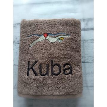 Ręcznik z imieniem haft Kuba bawełna 100 % 50x90