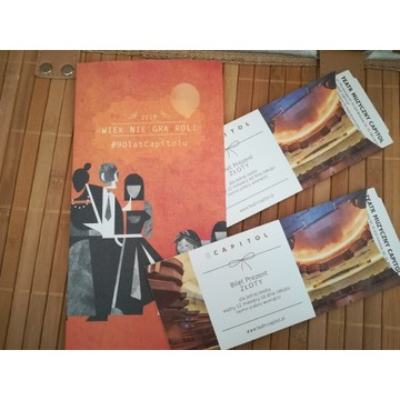 2 Złote vouchery do Teatru Capitol