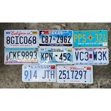 Super zestaw 8 oryginalnych tablic Route66 USA