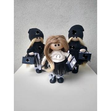 Lalka na szydełku laleczka kolekcjonerska handmade