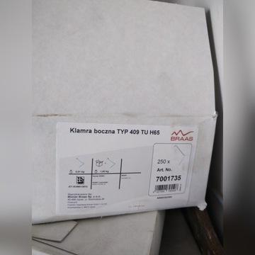 Klamra spinka boczna TYP 409 TU H65 BRAAS Turmalin