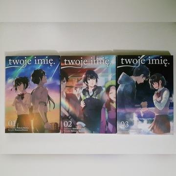Twoje Imię.  - manga - tomy 1-3 (komplet)