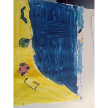 Plaża gotyku - rysunek w wykonaniu Ksawerego