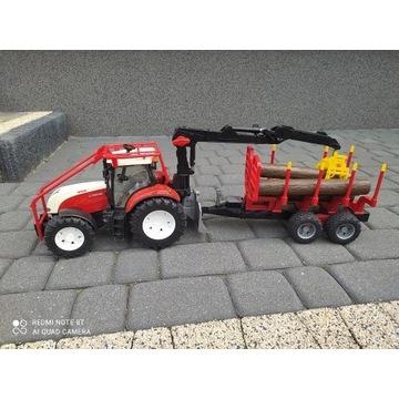 Bruder Traktor Steyer z Przyczepą