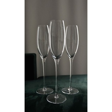 Wysokie kieliszki do szampana komplet 6szt.