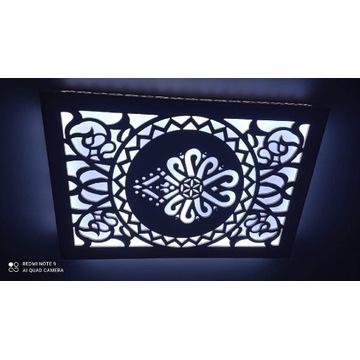 Lampa kloszdekoracyjny styl góralski wymiar 120/60