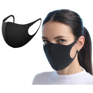 Maska maseczka ochronna 1 szt. czarna wielorazowa