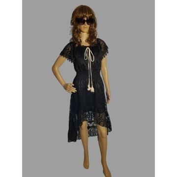 Sukienka koronkowa hiszpanka/boho/czarna