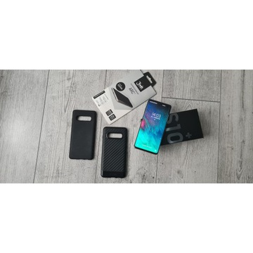 Samsung Galaxy S10+ gratis 2x etui Spigen i folia