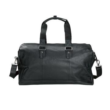 Czarna skórzana torba podróżna Livergy