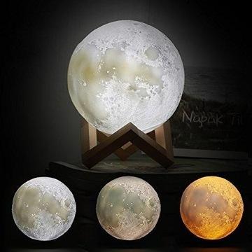 Lampka nocna księżyc 3D Moon Light Dotykowa