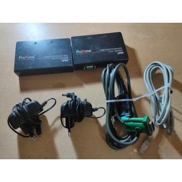 Przedłużacz USB VGA Cat 5 KVM 1280x1024@150 CE700A
