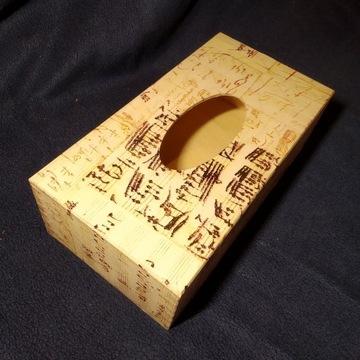 Serwetnik drewniany, nota, muzyka, rękodzielo