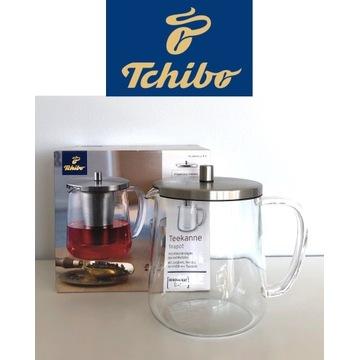 Dzbanek do herbaty Tchibo szkło borosilikatowe 1,2