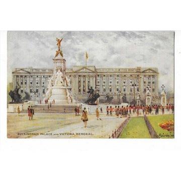 #T07 Londyn - Buckingham Palace. Tuck. Oilette