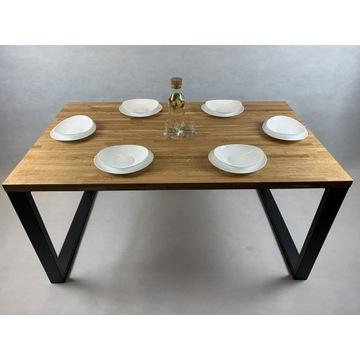 Stół dębowy 150x90 drewniany do jadalni loft