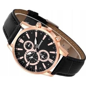 Efektowny męski kłasyczny zegarek LICYTACJA