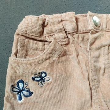 Spodnie sztruksowe 92 Primark. Jak nowe