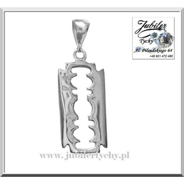 Srebrny wisiorek żyletka żyleta ze srebra srebro