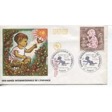 FDC FRANCJA- ROK DZIECKA 1979