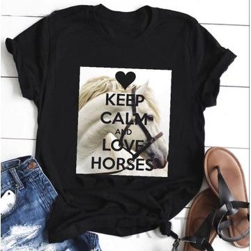 Koszulka bluzka t-shirt konie kon Różne wzory