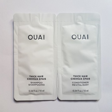 OUAI Thick Hair Grube Włosy Szampon+odżywka 2x10ml