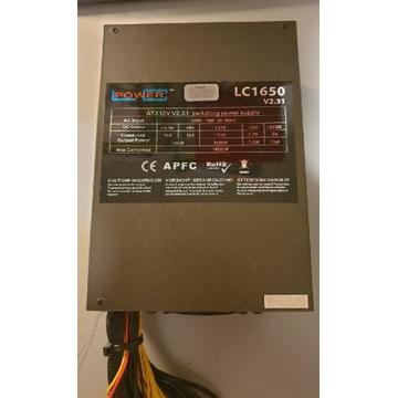 Zasilacz LC-POWER LC1650 1650W do koparki 16xPCI-E