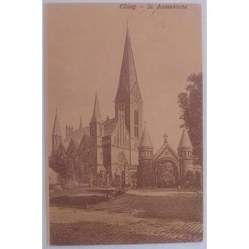 Kartka Elbing St.Annekirche. Reprodukcja