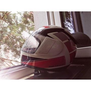 Kask motocyklowy Yamaha biały czerwony