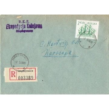 Międzyrzecz - Koperty listów poleconych 1960-80