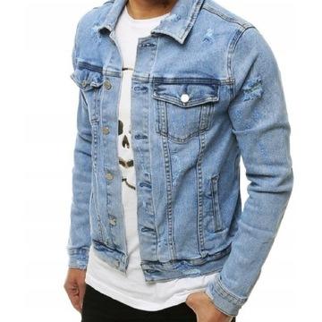 Kurtka jeans jeansowa katana jak nowa XL