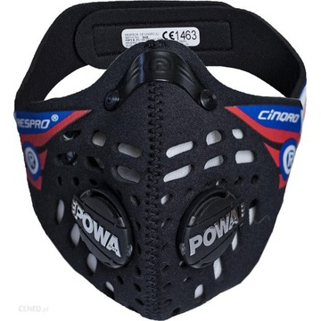 Maska Respro Cinqro Black + 2 filtry, rozmiar M