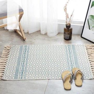 Retro tkany, bawełniany dywan 60x90 cm