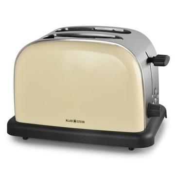 toster 2-szczelinowy stal nierdzewna 1000W retro
