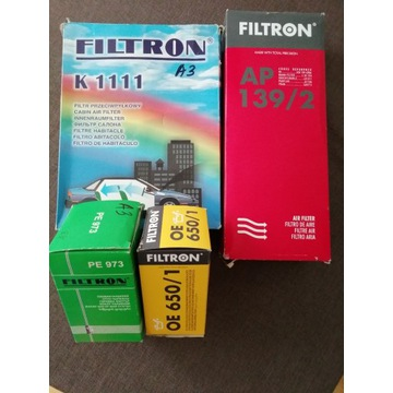 Zestaw filtrów firmy FILTRON Audi, VW, Seat, Skoda