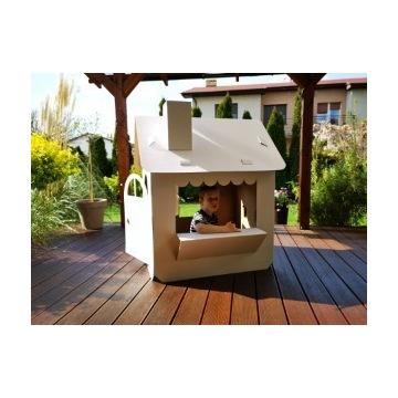 Tekturowy domek-Idealny pomysł na garden party