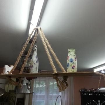 półka wisząca na sznurach 105 x 21