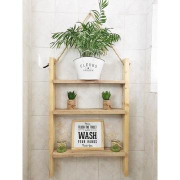 DREWNIANA półka do kuchni, łazienki-styl skandyn.