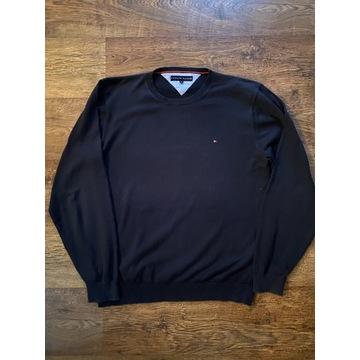 Czarny męski sweter Tommy Hilfiger XL sweterek TH