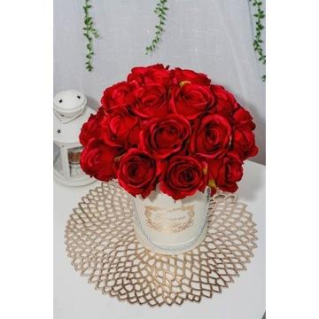 Flower box sztuczne róże w pudełku