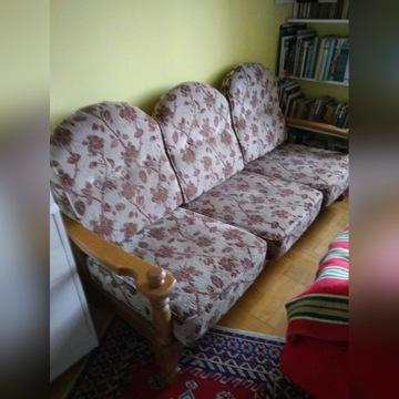 Kanapa, 2 fotele i ława