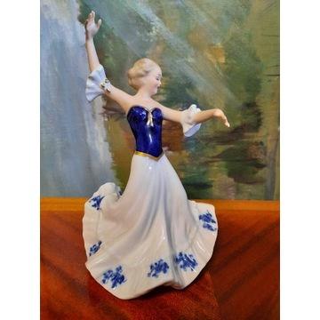 Figurka Dama tańcząca Wallendorf kobalt 1509