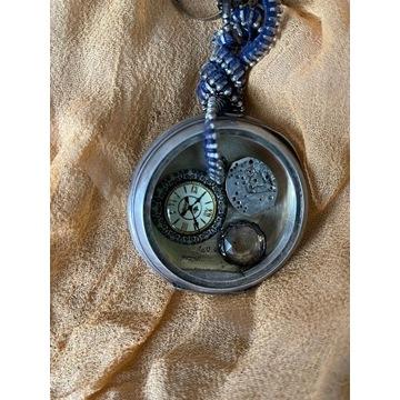 Gotycki naszyjnik steampunk mechanizm werk zegarek