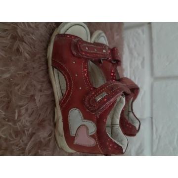 Sandałki dziewczęce,Lasocki,skóra r.22