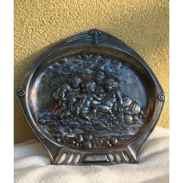 Plakieta na ścianę cyna - WMF - Cyna srebrzona