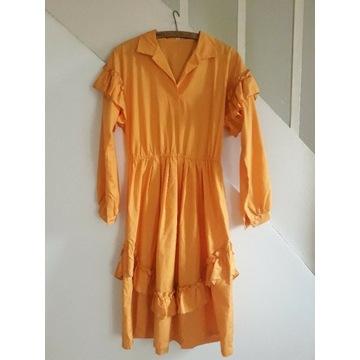 Sukienka vintage z falbanami