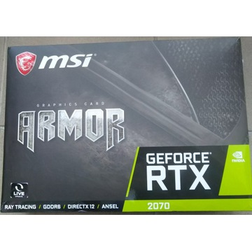 MSI GeForce RTX 2070 Armor 8G Dodatki Gwarancja