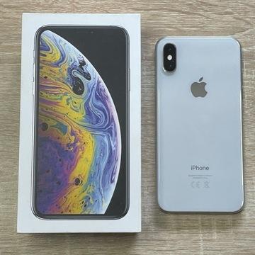 iPhone XS 256GB Silver 100% sprawny+Etui GRATIS!