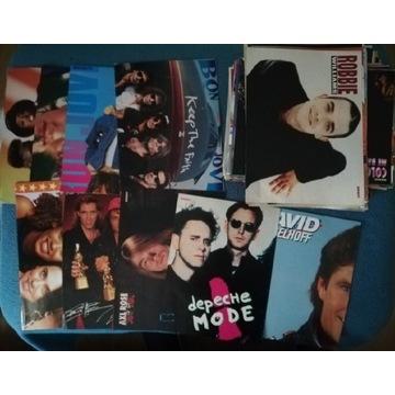 Czasopismo Bravo plakaty lat 90-2000