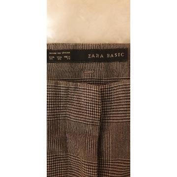 Spodnie w drobna kratkę  Zara Basic Xs